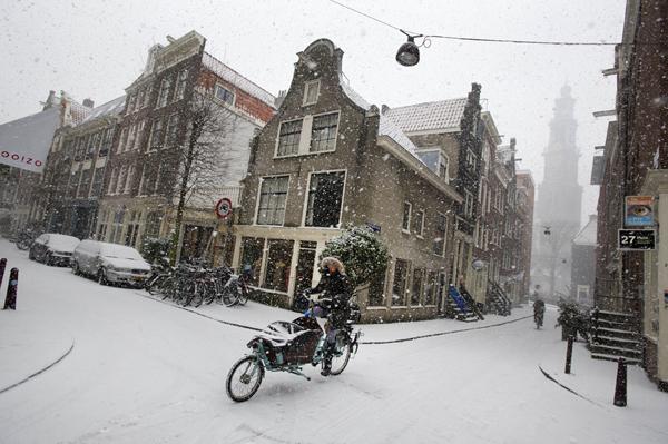 La neve ad Amsterdam