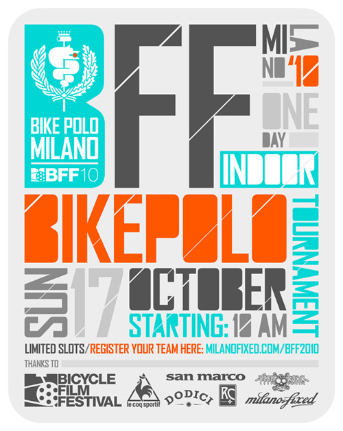 Il manifesto del Bicycle Film Festival Bike Polo Tournament