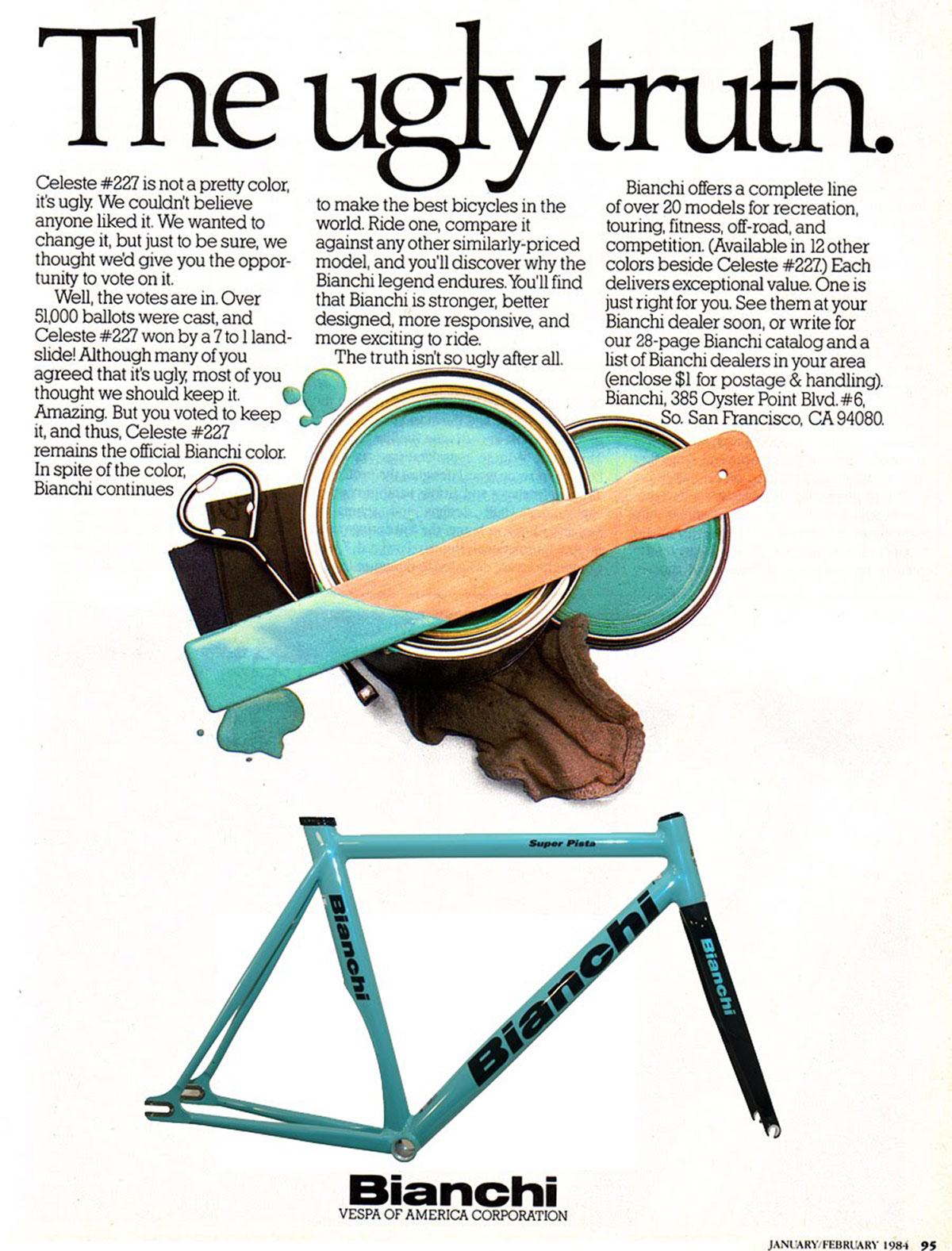 Poster pubblicità bici Bianchi