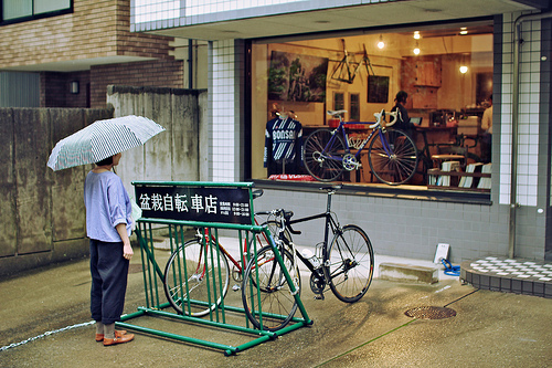 Negozio giapponese di biciclette
