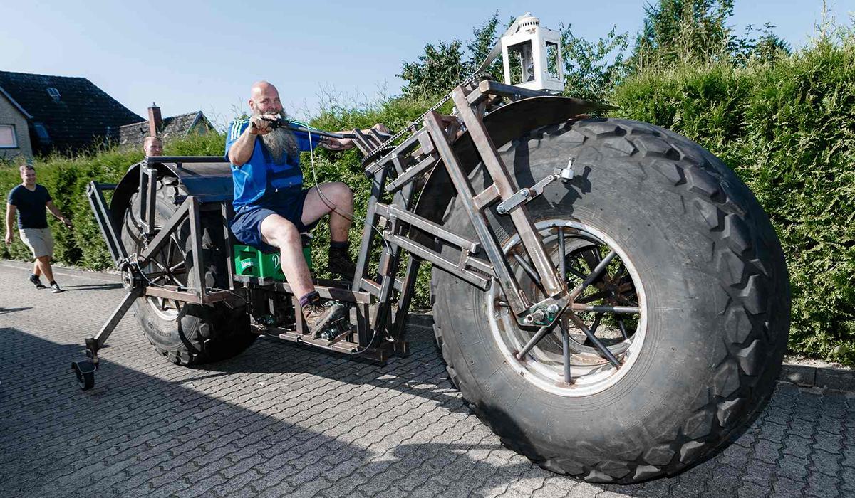 La bici dalle ruote pesantissime di Frank Dose