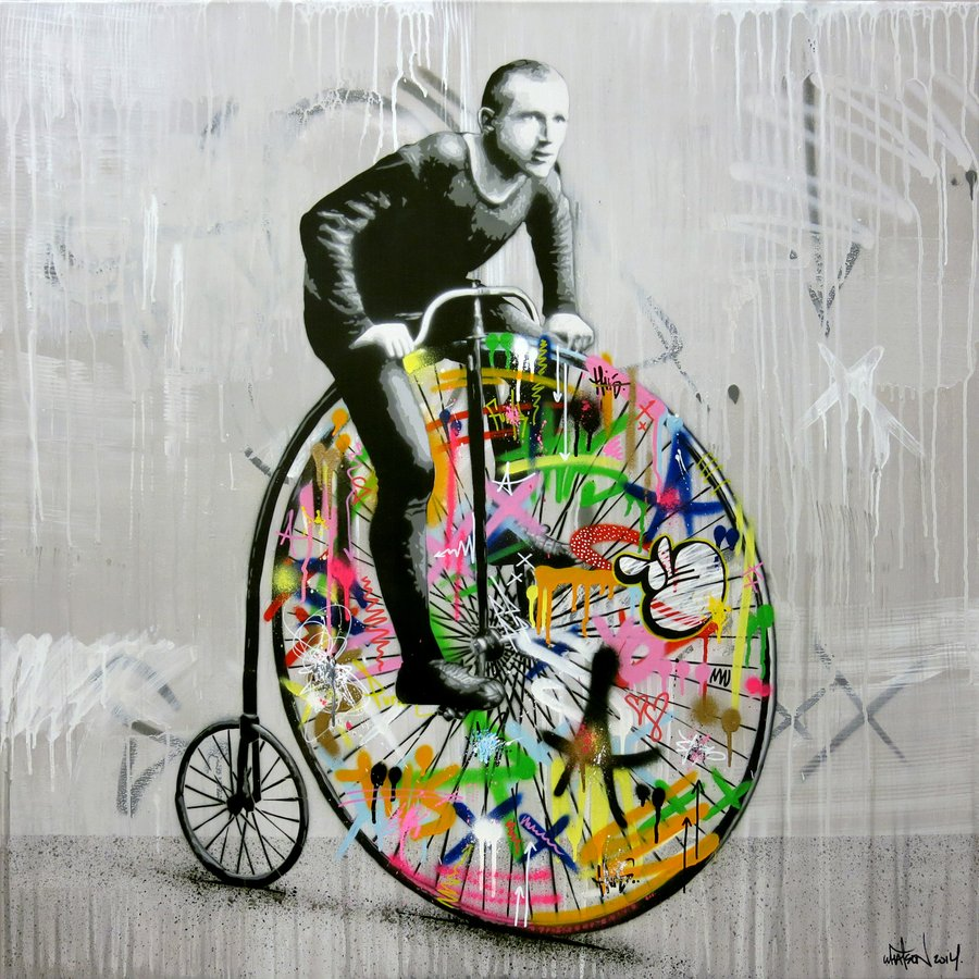 Bici graffiti di Martin Whatson