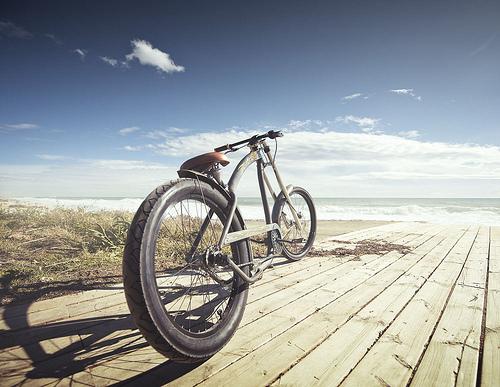 Una bici customizzata da Harley Davidson