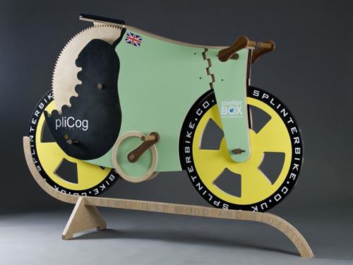 SplinterBike la bici di legno