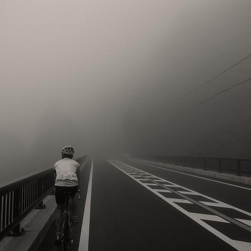 Bici e nebbia