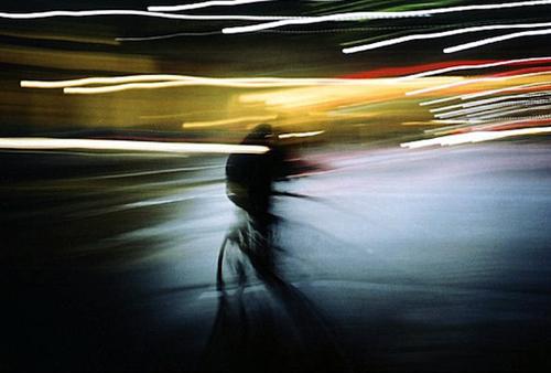 In bici di notte