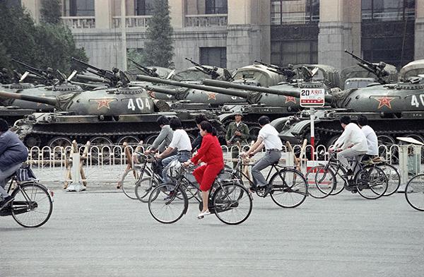 Bici in Piazza Tiananmen nel 1989