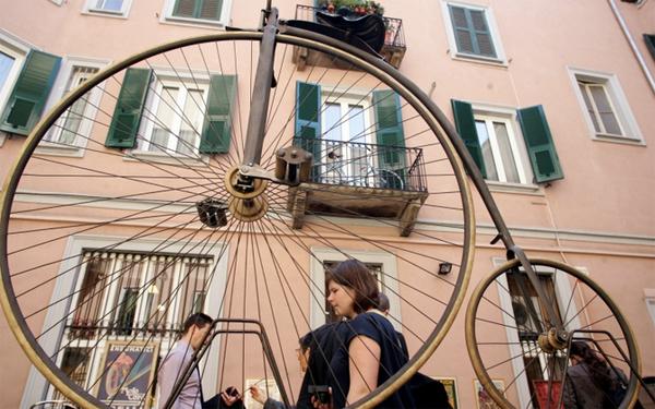 Le biciclette d'epoca al Fuorisalone