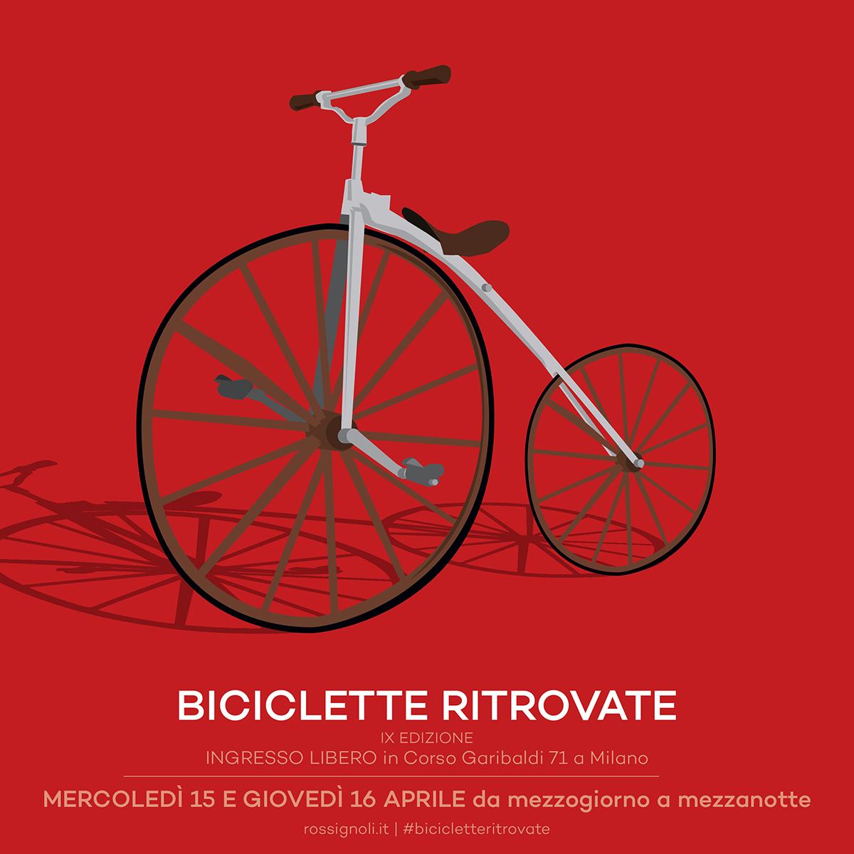 Locandina della IX edizione di Biciclette Ritrovate