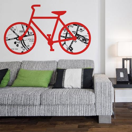 Stencil a forma di bici