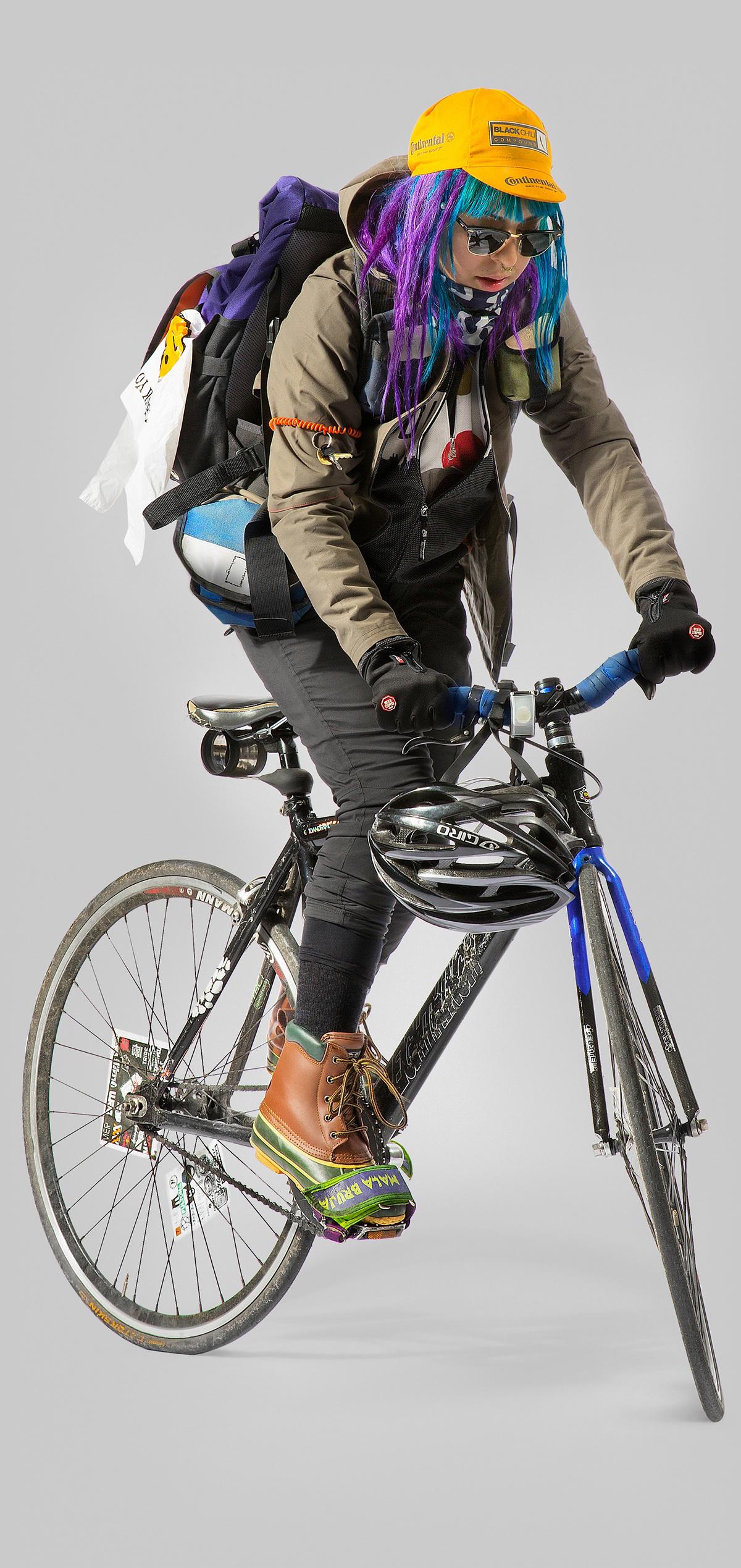 L'abbigliamento invernale del bike messenger