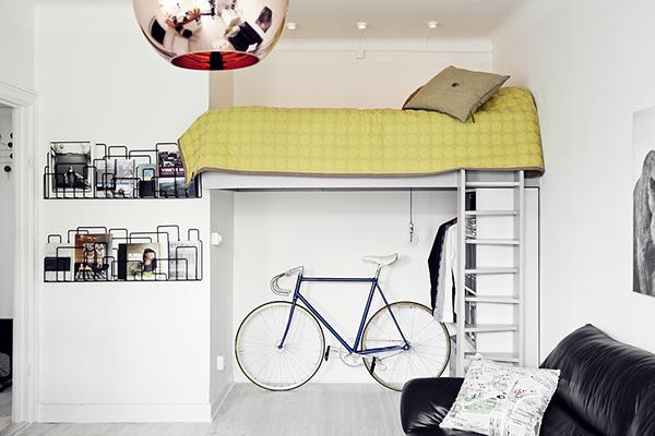 Camera da letto con bici
