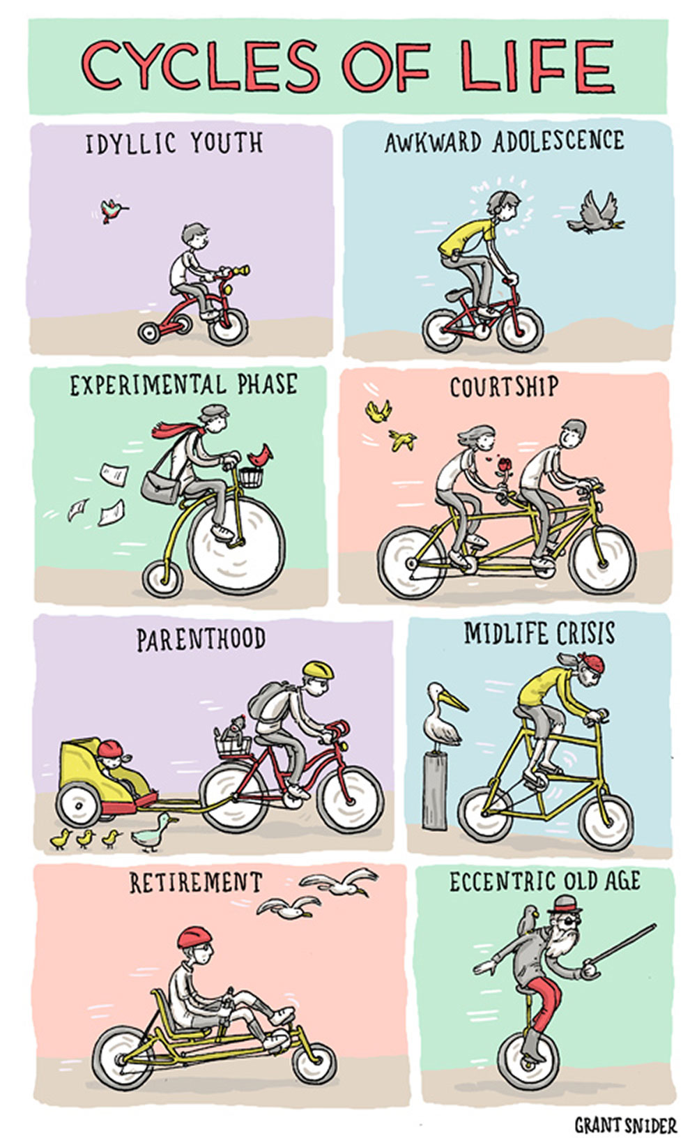 Cycle of life di Grant Snider