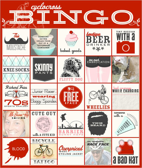 Il poster Cyclocross bingo