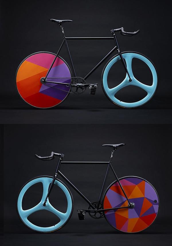Bici fissa con ruota double-face