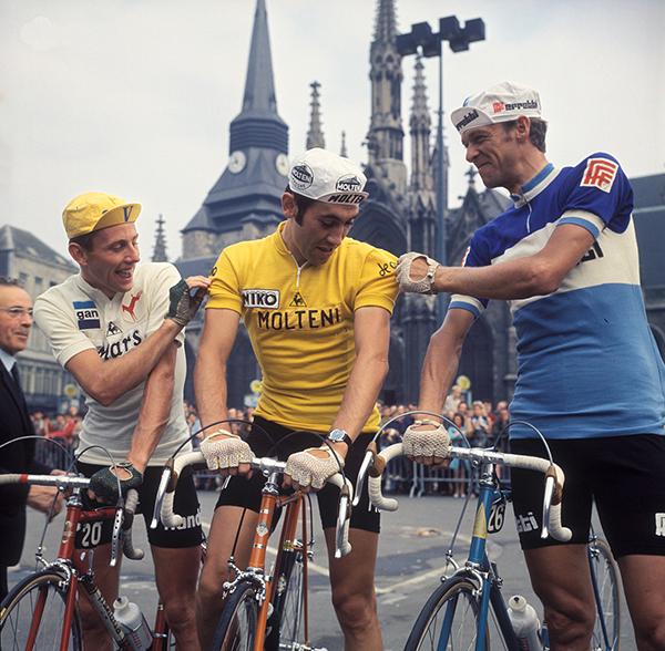 Eddy Merckx, Gosta Petterson e Joop Zoetemelk al Tour de France