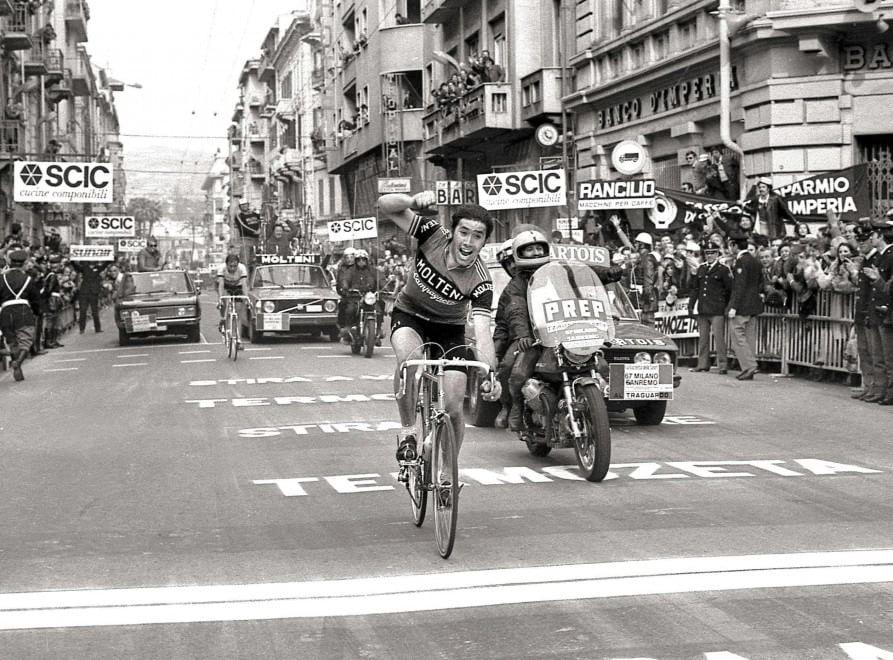 Eddy Merckx alla Milano-Sanremo 1976
