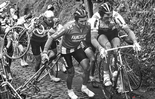 Francesco Moser sul Koppenberg