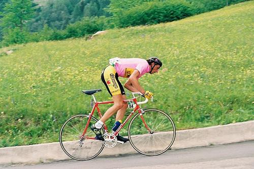 Franco Chioccioli in maglia rosa al Giro del 1991