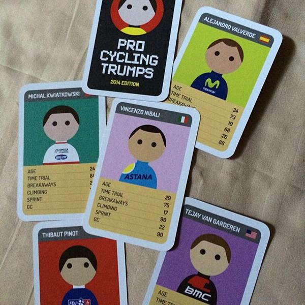 Gioco di carte collezionabili Pro Cycling Trumps