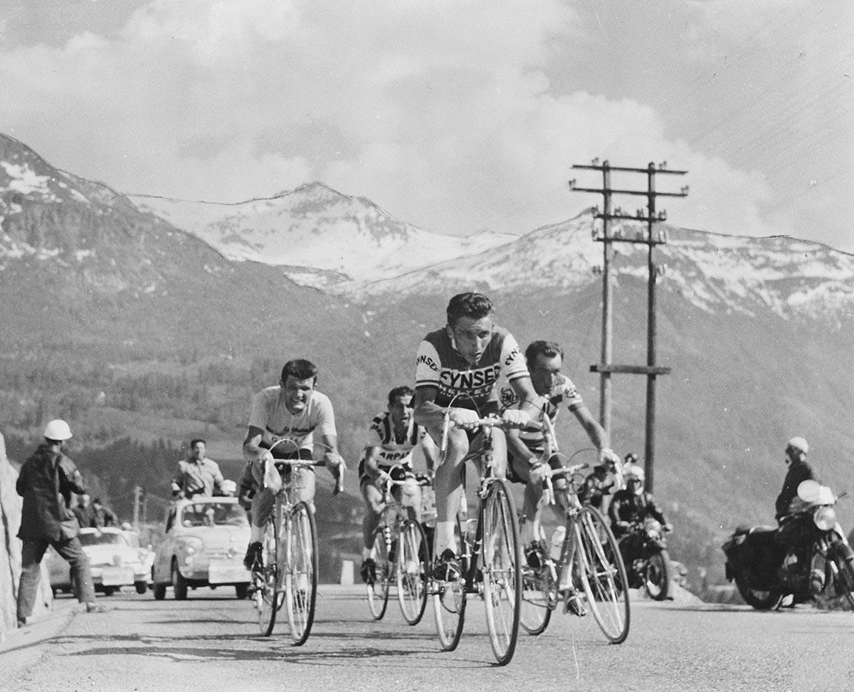 Anquetil, Nencini, Gaul e Hoevenaers al Giro d'Italia 1960