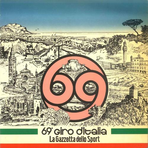 La locandina sulla Gazzetta dello Sport per il 69esimo Giro d'Italia