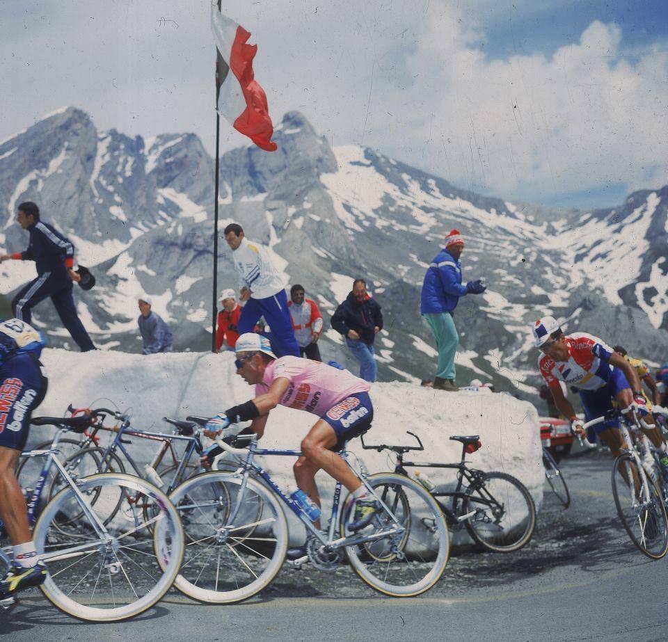 Berzin e Indurain al Giro d'Italia 1994