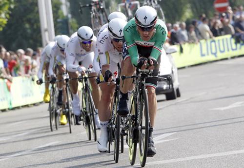 La HTC Highroad sulle strade del Giro d'Italia 2011