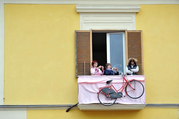 La bici alla finestra