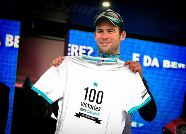 Mark Cavendish a quota 100 vittorie