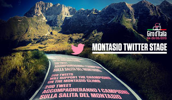 200 tweet sull'altopiano del Montasio per il Giro 2013