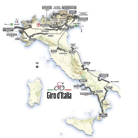 Il percorso del Giro d'Italia 2013