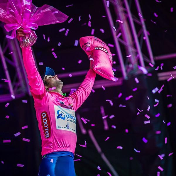 Michael Matthews in maglia rosa al Giro 2014