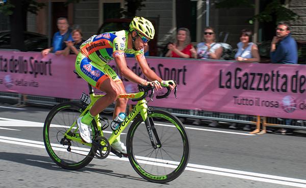Mauro Finetto nella tappa di Savona al Giro 2014
