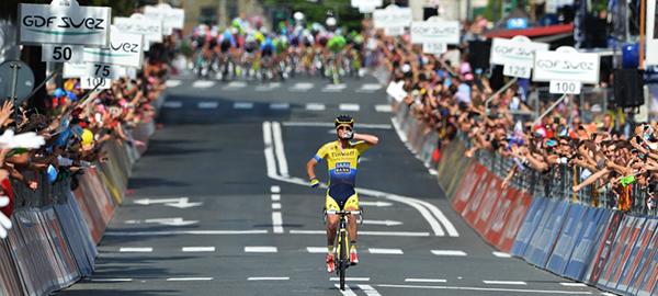 Rogers a Savona durante il Giro d'Italia 2014