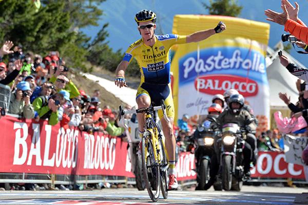 Rogers sullo Zoncolan al Giro d'Italia 2014
