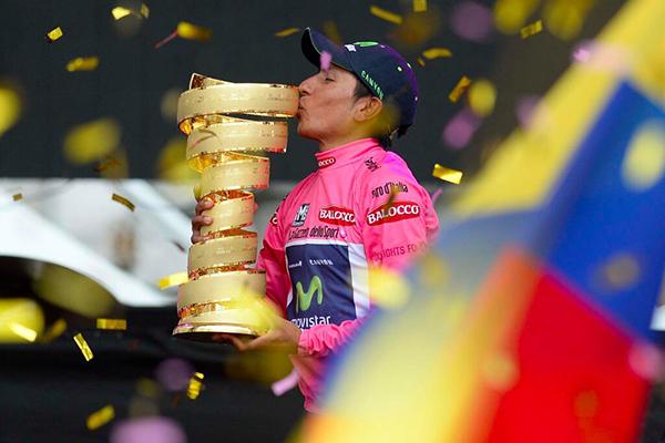 Nairo Quintana re del Giro 2014 e il Trofeo senza Fine
