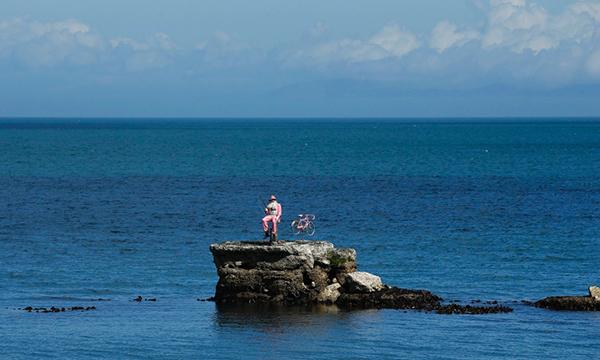 Pescatore e bici rosa in Irlanda per il Giro 2014