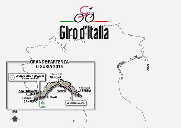 La Grande Partenza del Giro 2015 dalla Liguria
