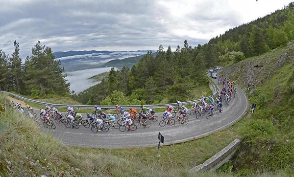 Il Giro d'Italia verso Campitello Matese