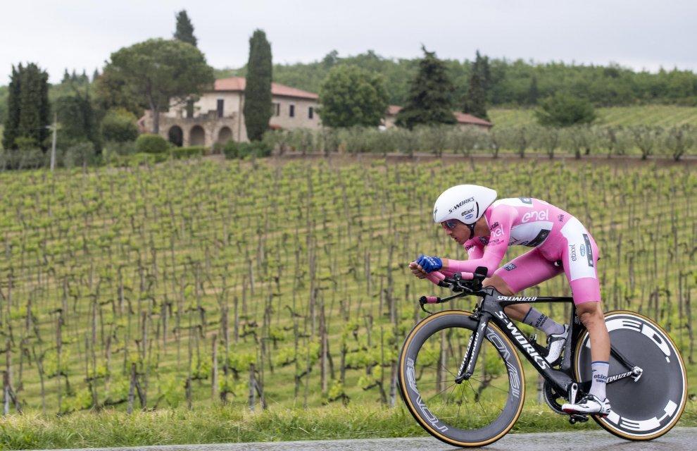 Gianluca Brambilla a cronometro in rosa al Giro 2016