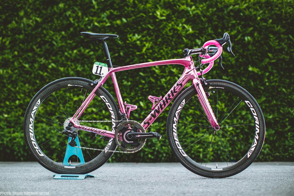 La bici rosa di Nibali per il Giro 2016