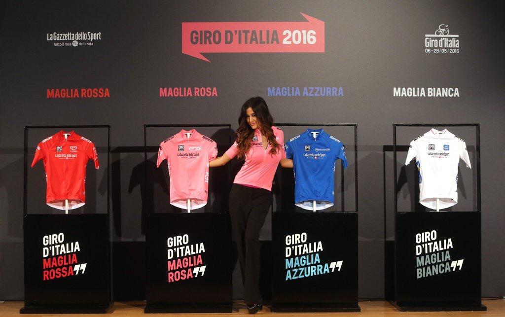 Le maglie del Giro d'Italia 2016