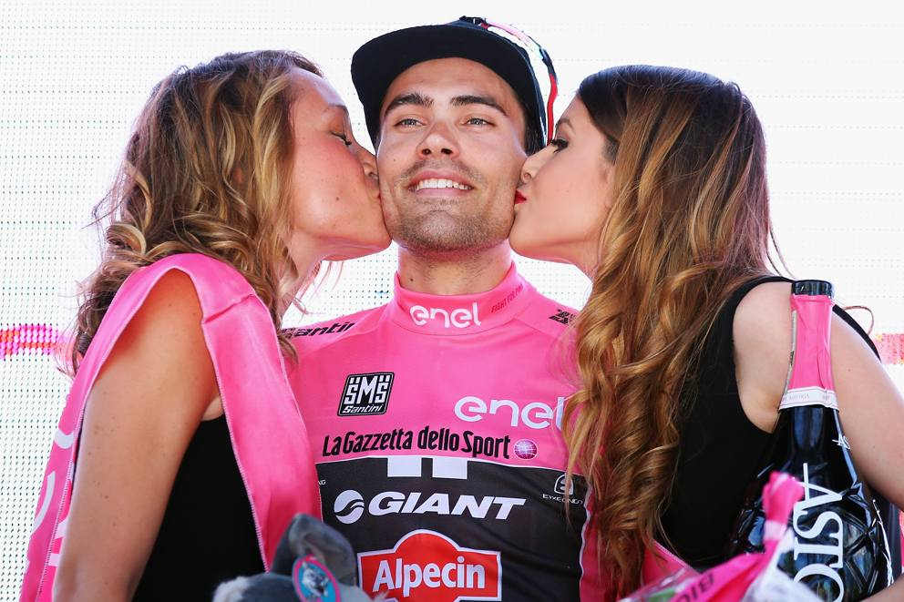 Tom Dumoulin in Maglia Rosa al Giro d'Italia 2016