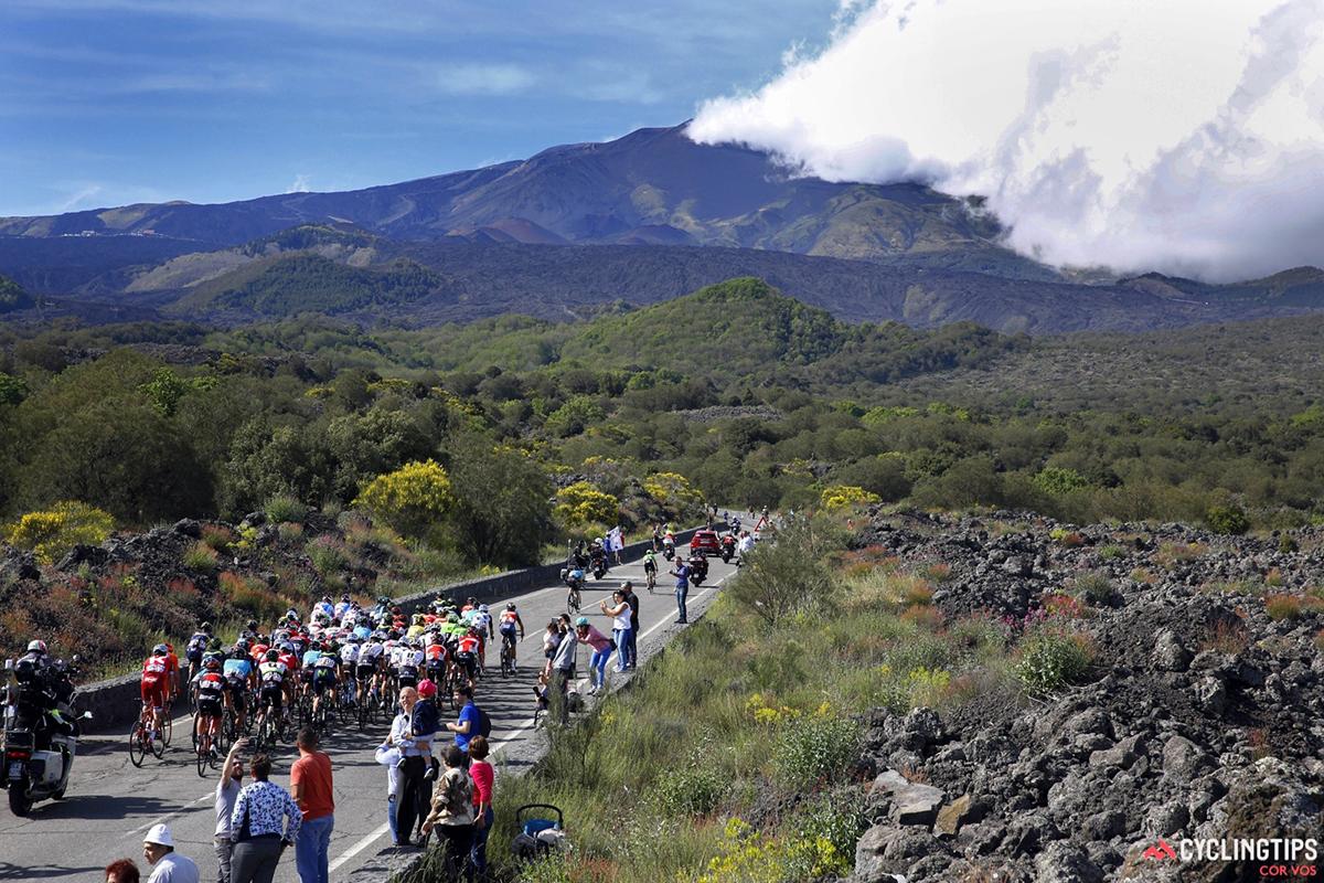 Il Giro 2017 sull'Etna
