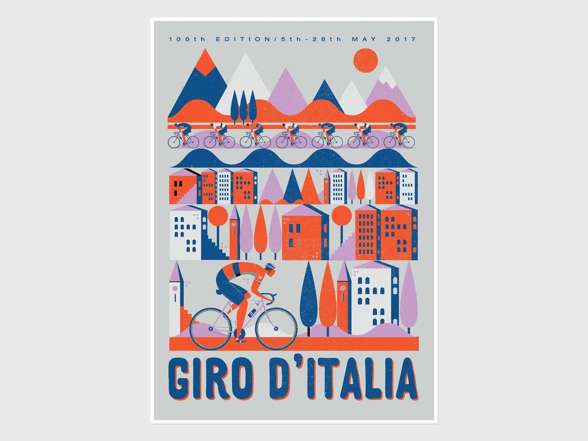 Poster per la centesima edizione del Giro d'Italia