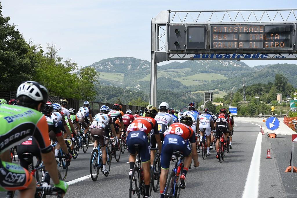 Il Giro d'Italia 2017 sulla A1