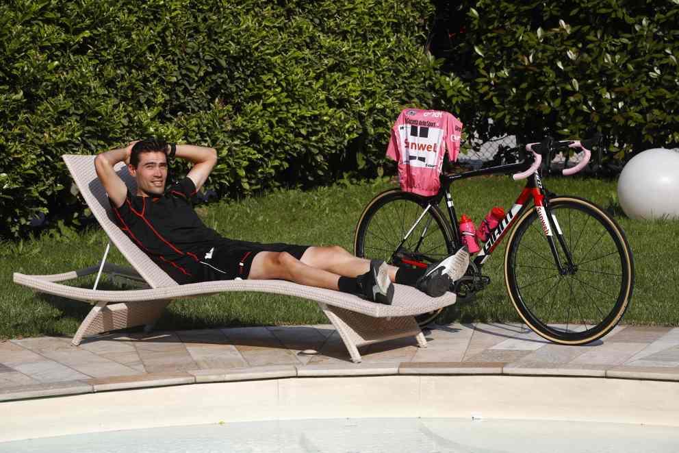 Il riposo di Tom Dumoulin al Giro 2017