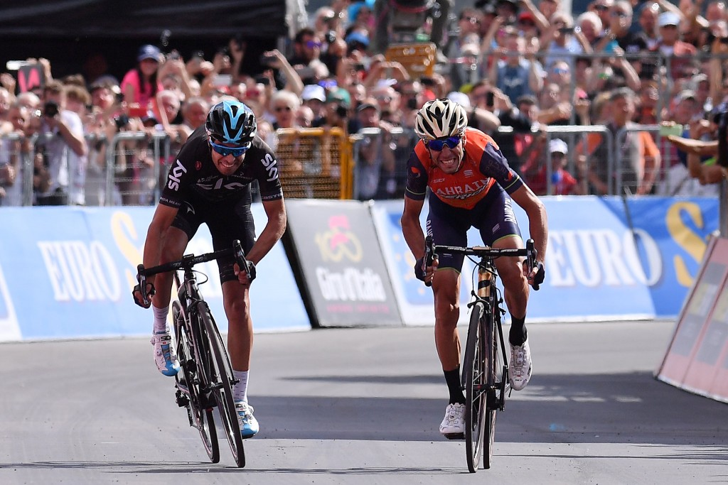 Nibali e Landa in volata al Giro 2017