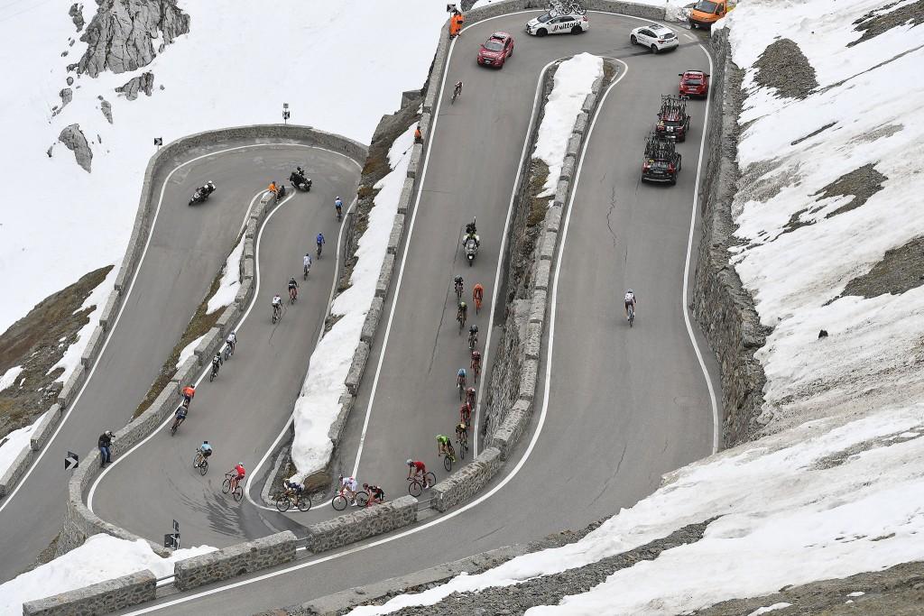 I tornanti nella tappa di Bormio al Giro 2017